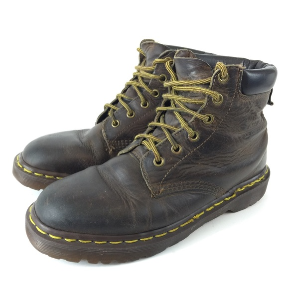1202d49c58f Dr. Doc Martens Mens 6 Brown Leather Ankle Boots